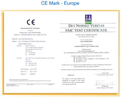 Picture of CE certificate for the home spa product